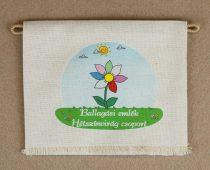 Hétszínvirág csoport, nyers színű vászon ballagó tarisznya (más alapanyag is választható)