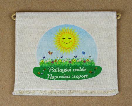 Napocska csoport, nyers színű vászon ballagó tarisznya (más alapanyag is választható)