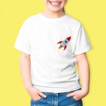 Fehér gyermek póló színes emblémával