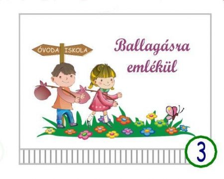 Óvodai ballagó tarisznya  3-as minta (kislány-kisfiú, óvoda-iskola)
