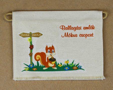 Óvodai ballagó tarisznya 10-es minta (mókus)