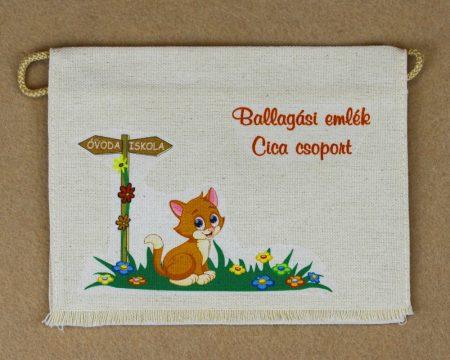 Óvodai ballagó tarisznya 15-ös minta (cica)