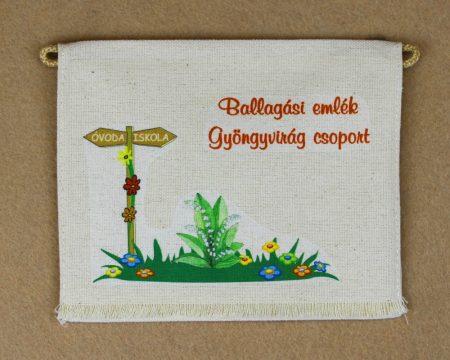 Óvodai ballagó tarisznya 27-es minta (gyöngyvirág)