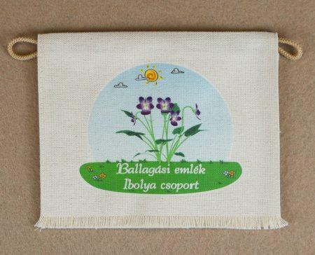 Óvodai ballagó tarisznya  64-es minta (ibolya)