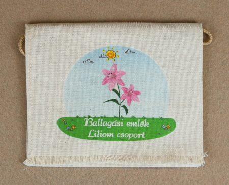 Óvodai ballagó tarisznya  66-os minta (liliom)