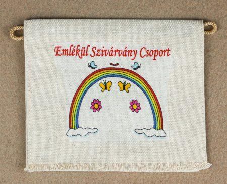 Óvodai ballagó tarisznya  81-es minta (szivárvány)