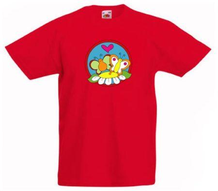 Színes gyermekpóló színes flex nyomattal