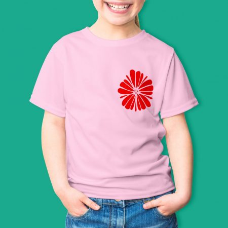 Színes gyermek póló egyszínű flex nyomattal