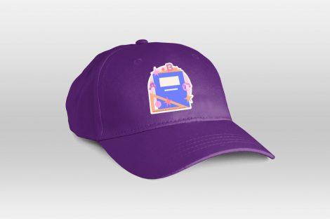 Felnőtt baseballsapka színes emblémával