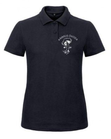 Felnőtt színes galléros póló egyszínű emblémával max. 7X10 cm-es nagyságban a szív oldalán