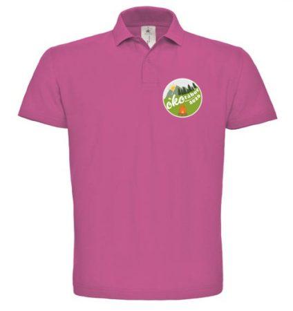 Felnőtt színes galléros póló színes emblémával